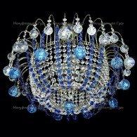 Люстра хрустальная Акация шар 30,40 мм синяя  (без зеркала)