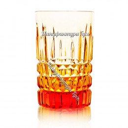 Хрустальный стакан Пальчик рис.Медовый спас