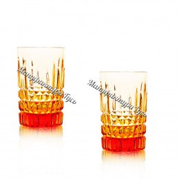 Набор хрустальных стаканов Пальчик рис.Медовый спас