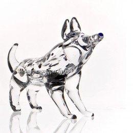 Хрустальная собачка Хаска