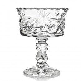 Хрустальная ваза для крема «Шведка»