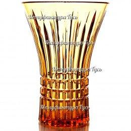 Хрустальная ваза для цветов «Императорская», большая рис. «Медовый спас