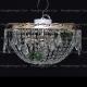 Люстра хрустальная Анжелика 3 лампы журавлик зеленая