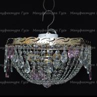 Люстра хрустальная Анжелика 3 лампы журавлик розовый