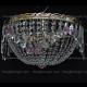 Люстра хрустальная Анжелика 3 лампы журавлик розовая