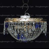 Люстра хрустальная Анжелика 3 лампы журавлик синий
