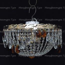 Люстра хрустальная Анжелика 3 лампы журавлик чайный