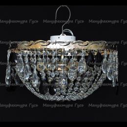 Люстра хрустальная Анжелика 3 лампы журавлик черная