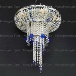 Люстра хрустальная Анжелика  № 1 шар 40 синий мм