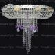 Люстра хрустальная Анжелика  № 1 шар 40 мм фиолетовый