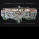 Люстра хрустальная Виктория зеленая
