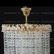 Люстра хрустальная Капель-лепесток  5 ламп конус  40 мм длинная