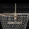 Люстра хрустальная Квадрат 1 лампа Ракушка с подвесом