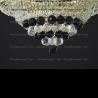 Люстра хрустальная Кольцо + пирамида шар  40 мм черный