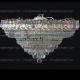 Люстра хрустальная Кольцо + пирамида шар  40 мм розовый
