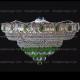 Люстра хрустальная Кольцо + пирамида шар  40 мм зеленый
