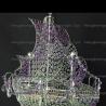 Люстра хрустальная Корвет 4 лампы фиолетовый