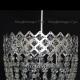 Люстра хрустальная Корона № 4 1 лампа подвес