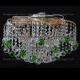 Люстра хрустальная Космос шар 40 мм зеленая