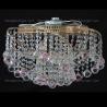 Люстра хрустальная Космос шар 40 мм розовая