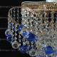 Люстра хрустальная Космос шар 40 мм синяя