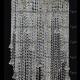Люстра хрустальная Космос 5 ламп конус  40 мм длинный