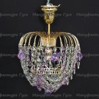 Люстра хрустальная Малинка шар фиолетовая