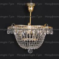 Люстра хрустальная Ромашка 1 лампа Купол с подвесом