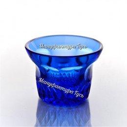 Хрустальный Лампадка-подсвечник цв.синий