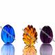 Хрустальное декоративное изделие «Яйцо» цв. синий