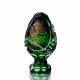 Хрустальное декоративное изделие «Яйцо» среднее с живописью,цв. зеленый