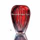 """Хрустальная ваза для цветов """"Каскад"""" бол., цв.красный"""