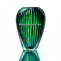 """Хрустальная ваза для цветов """"Каскад"""" сред., цв.красный"""