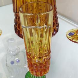 """Хрустальный стакан для напитков «Хот Шот» рис. """"Медовый спас"""""""