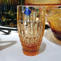 """Хрустальный стакан для напитков """"Боярин"""" рис.""""Медовый спас"""""""