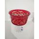 Хрустальная ваза для конфет серии «Шведка» красная