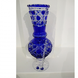 Хрустальная ваза для цветов «Любава» ссиняя