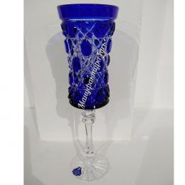 Хрустальный набор 6 бокалов серии «Шведка» цв.синий