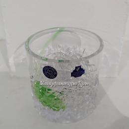 Хрустальный стакан для виски рис. с налепами