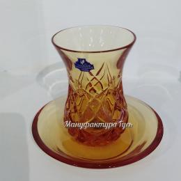 Хрустальный набор «Армуд» (стакан, блюдце)