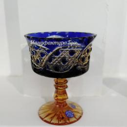 Хрустальная ваза для крема серии «Шведка»