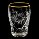 Хрустальный набор стаканов ддля напитка отв.золотом1000/1