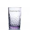 """Хрустальный стакан """"Чайный"""" рис. """"Пузырьки"""" цв. светло-фиолетовый"""
