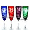 """Хрустальный набор 4 бокалов для воды """"Фараон"""" разноцвет"""