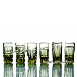 """Хрустальный стакан """"Пальчик"""" разный рисунок"""