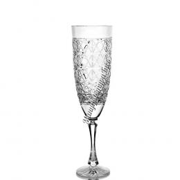 Хрустальный бокал для воды, рис. произвольный, бесцветный