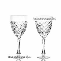 Хрустальный набор бокалов для вина произ. рис.