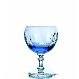 Хрустальный набор 6 бокалов для коньяка произ.рис., цв. светло фиолетовый