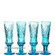 Хрустальный набор «Коломенская верста» (графин с пробкой, 6 бокалов) цв.бирюзовый