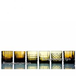 Хрустальный набор 2 стаканов для виски разн.рис